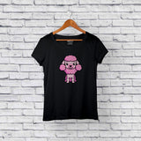 Cute Poodle Black T-Shirt Design Online
