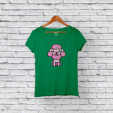 Cute Poodle Green T-Shirt Design Online