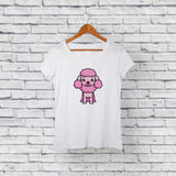 Cute Poodle White T-Shirt Design Online