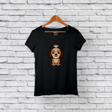 Best Shih Tzu Dog Black T-Shirt Design Online