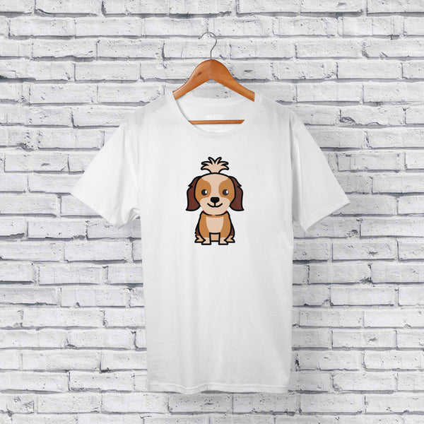 Best Shih Tzu Dog White T-Shirt Design Online