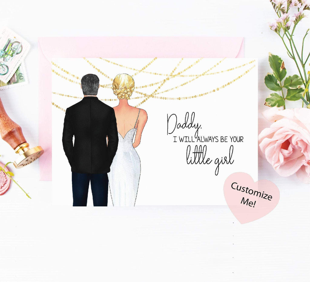 i'll always be your little girl wedding day keepsake for dad