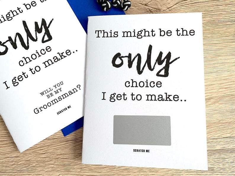 designing moments premium cards scratch off masculine groom