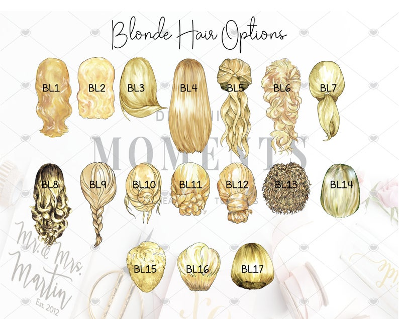 blonde hair options custom portraits custom