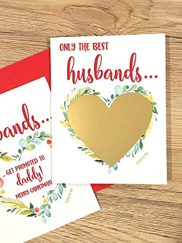 Pregnancy Scratch Off Card for Husband Christmas