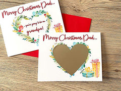 Dad Merry Christmas Pregnancy Scratch Off Card for