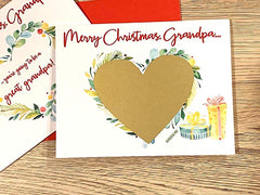 Christmas Baby Announcement Scratch Off Card for Grandpa