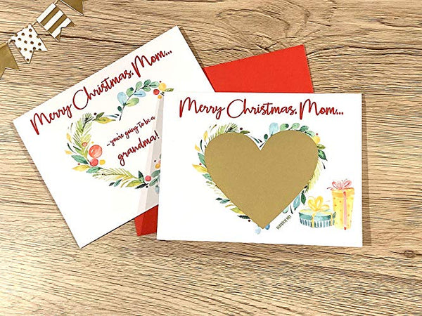 Merry Christmas Pregnancy Scratch Off for Mom