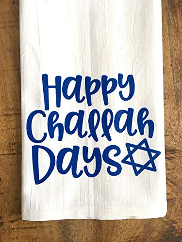 Happy Challah Days Tea Towel