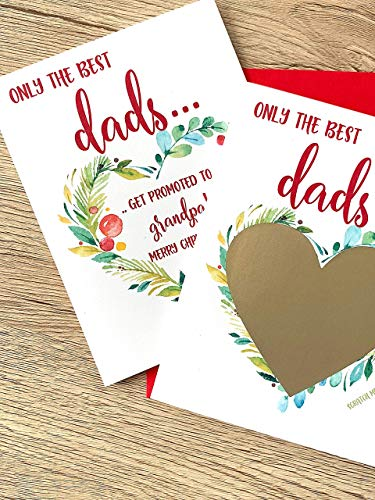 Christmas Pregnancy Scratch Off Card for Dad