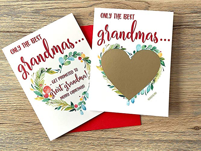 Holiday Baby Reveal for Grandma Scratch Off Card
