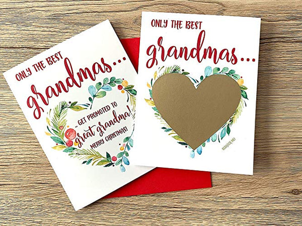 Christmas Pregnancy Scratch Off for Grandma