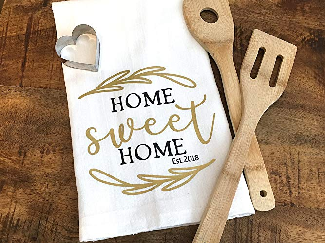 Home Sweet Home Custom Year Tea Towel