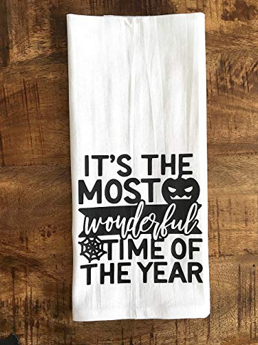 Halloween Its the Most Wonderful Time of The Year Kitchen Towel