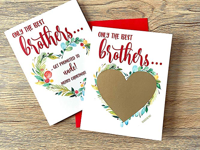 Christmas Pregnancy Scratch Off Card for Brother