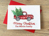 Personalized Christmas Truck and Tree Cards