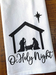 Nativity Scene Tea Towel