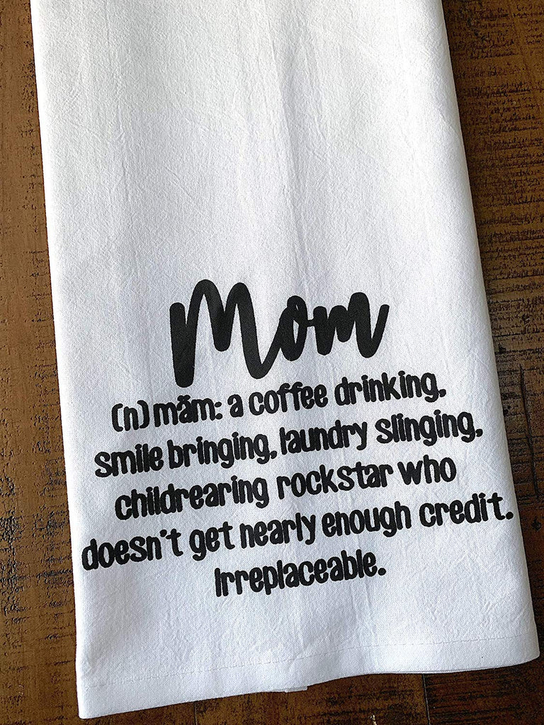 Definition of a Mom Gift Tea Towel