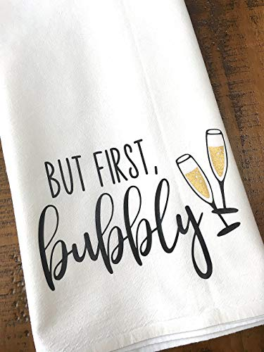 But First Bubbly Tea Towel