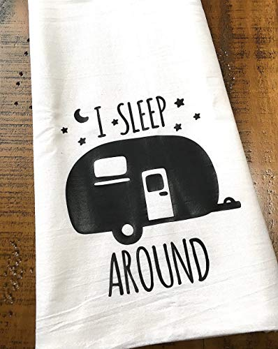 Funny Camper RV Tea Towel