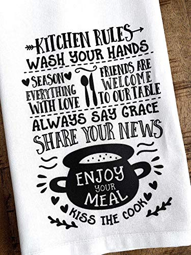 Kitchen Rules for Friends Hostess Tea Towel