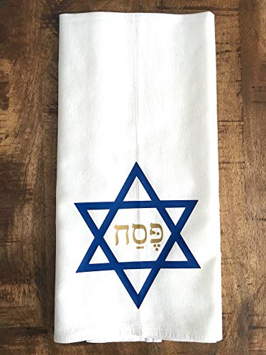 Star of David Passover Kitchen Tea Towel