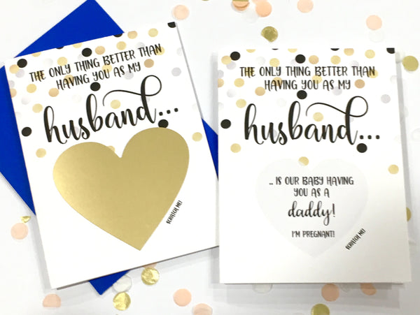 Confetti Pregnancy Reveal Scratch Off for My Husband..
