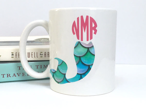 Personalized Monogram Mermaid Coffee Mug