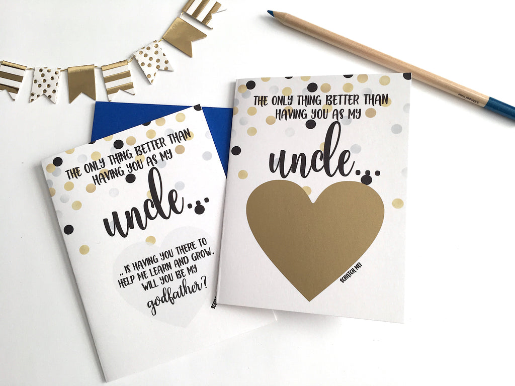 Uncle Godfather Proposal Scratch Off Card