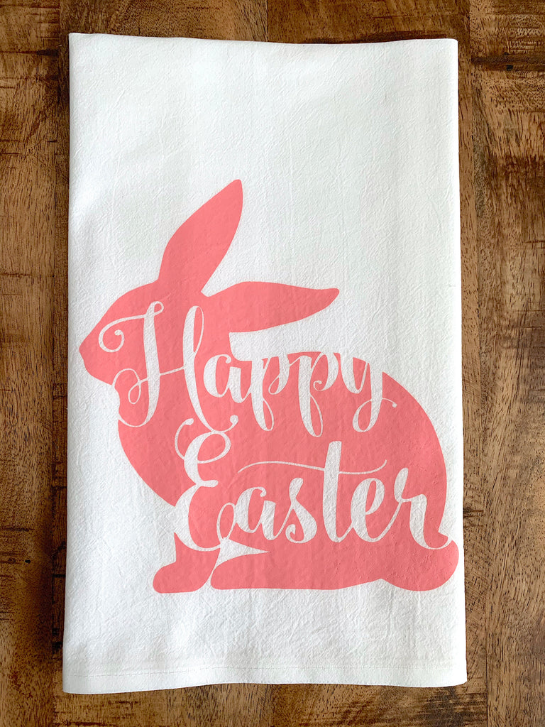 Homemade Happy Easter Holiday Tea Towel
