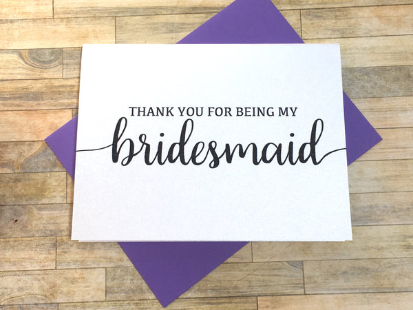 Thank You for Being My Bridesmaid (Flourish)