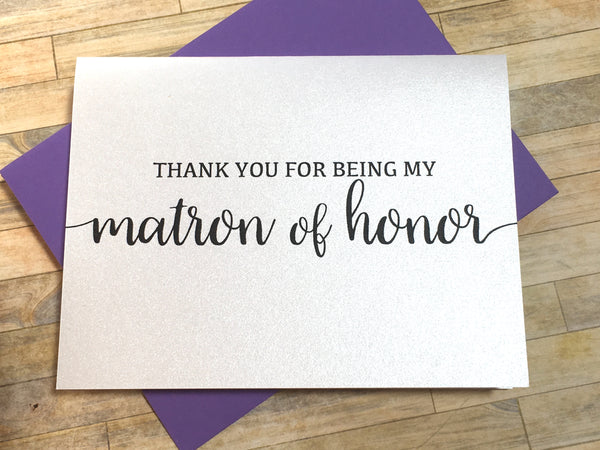 Thank You for Being My Matron of Honor (Flourish)