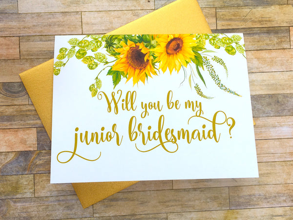 Will You Be My Junior Bridesmaid?