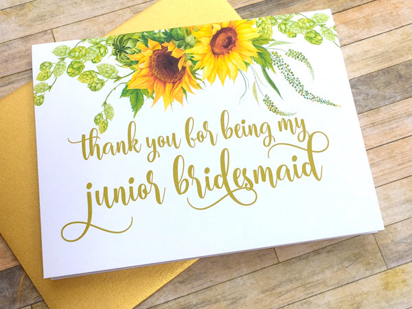 Thank You For Being My Junior Bridesmaid