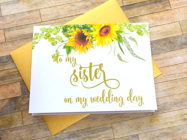To My Sister on My Wedding Day