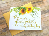 To My Grandparents on My Wedding Day