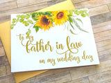 To My Father-in-Law on My Wedding Day