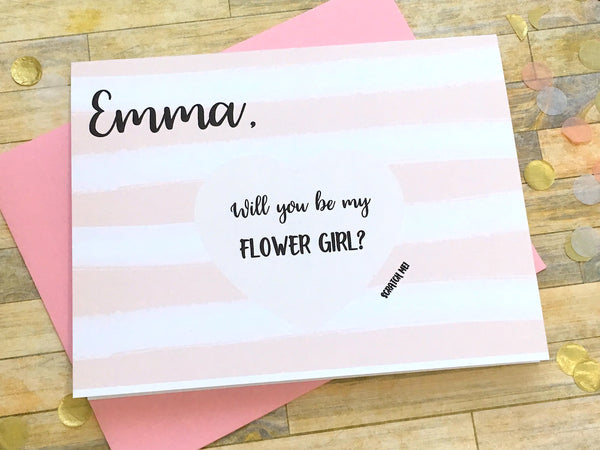 Personalized Scratch Off Will You Be My Flower Girl Card