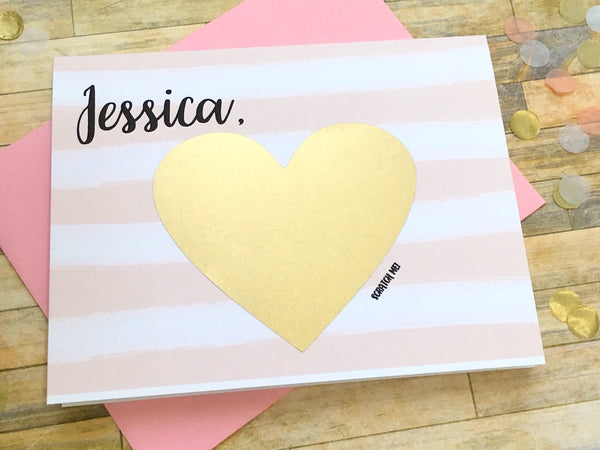 Personalized Scratch Off Will You Be My Bridesmaid Card