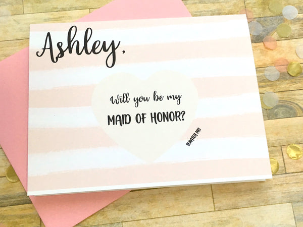 Personalized Scratch Off Will You Be My Maid of Honor Card