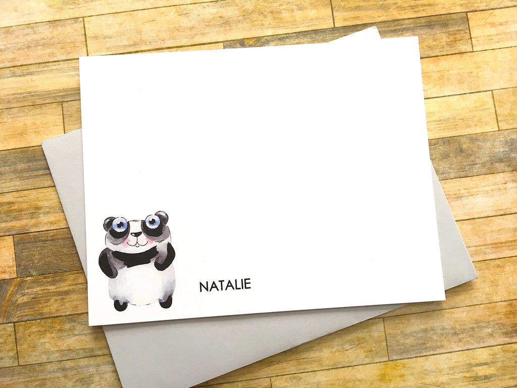 Panda Personalized Flat Cards