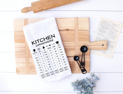 Kitchen Conversion Cheat Sheet Kitchen Flour Sack Towel