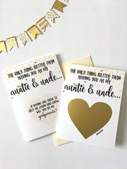 Auntie and Uncle Godparent Proposal Scratch Off Card