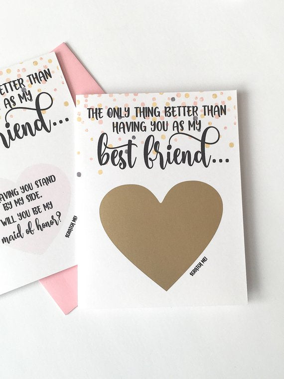 Best Friend Maid of Honor Scratch Off Card