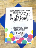 Rainbow Baby Pregnancy Announcement to Boyfriend