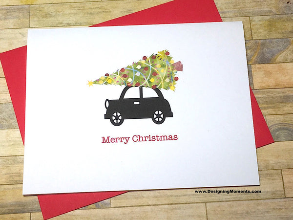 Car and Tree Christmas Cards