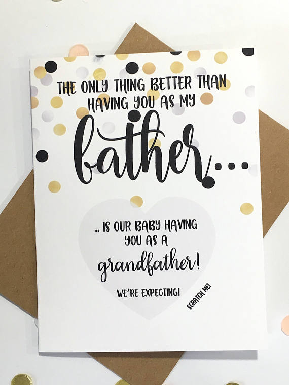 Father Pregnancy Reveal Scratch Off Card