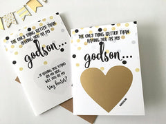 Godson Ring Bearer Scratch Off Proposal Card