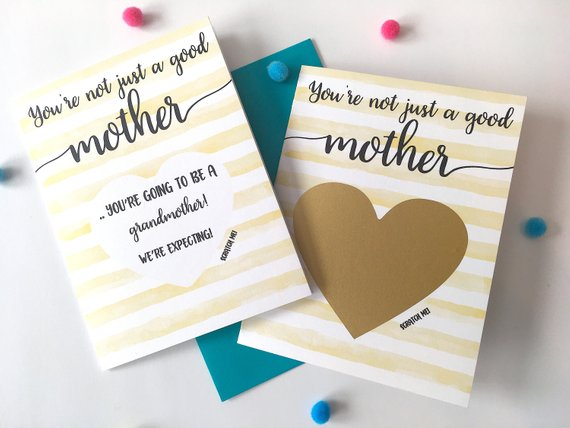 Watercolor Pregnancy Scratch off Card for Mom/Dad