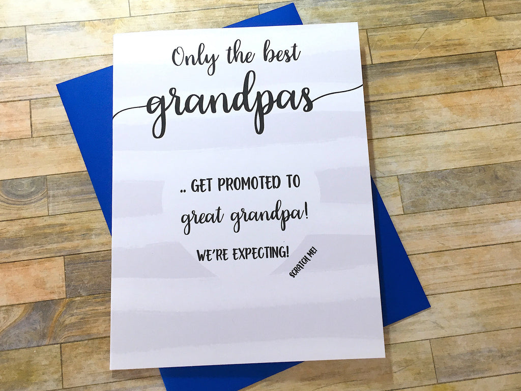 Stripes Scratch Off Pregnancy Card for Grandpa